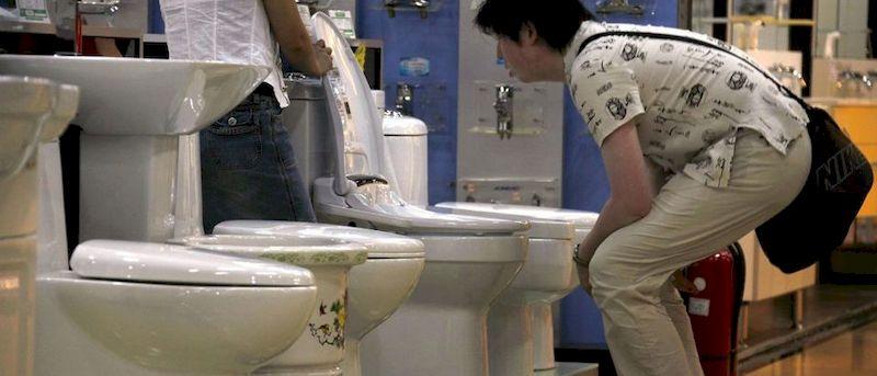 A man choosing toilet
