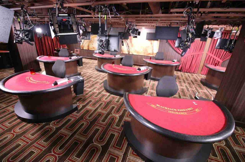 Live studio blackjack